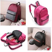 Wholesale Pink Love Shoulder Bags Women Backpack High Quality Cute Children School Bags VS For Teenagers Secret Waterproof Lady Bags Fee Shipping