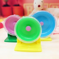 Wholesale YUMU Lowest Price Plastic Silent Hamster Mouse Rat Mice Exercise Running Spinner Wheel Pet Toy