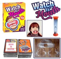 Wholesale Party Game Board Game Watch Ya Mouth Game cards mouthopeners Family Edition Hilarious Mouth Guard Card Games DHL Free