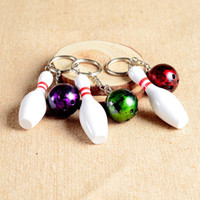 balls party favor - New Metal Bowling Ball Key chains Fashion Novelty Sports Key rings Gifts for Promotion WA2080
