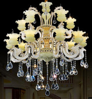 alloy deco zinc - Led Chandelier Luxury K9 Zinc Alloy Crystal Chandeliers Lighting Lustres Cristal Upscale Chandeliers Wall Lamp Living Room Lobby Bedroom