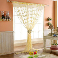 bedroom window curtains and drapes - Home Romantic heart shaped Lace Curtains Blinds Voile Tulle Room Curtain Sheer Panel Drapes for bedroom living room kitchen