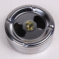 Wholesale Stainless Steel Ashtray Dustproof with Cover Lid Round Ash Tray Rotation Smoking Accessories