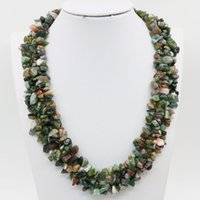 beaded jewelry india - Natural India Agate Irregular Beads Jade Jasper Rows Necklace Chain Jewelry Making Girls Party Gifts inch Lucky Stone Gems