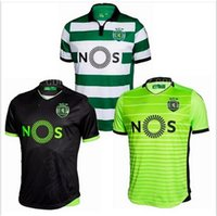 Wholesale Sporting Lisboa jersey New Lisboa Sporting CP Soccer jerseys home and away Sporting FC Football Lisbon shirts
