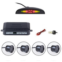Wholesale 10pcs a Car Parking Sensor Kit Auto LED Display Reverse Assistance Backup Radar Monitor Parking System with Park Sensors