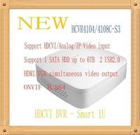Wholesale DAHUA CH CH Tribrid P Lite Smart U HDCVI DVR Support HDD Without Logo Mini CCTV Recorder HCVR4104C S3 HCVR4108C S3