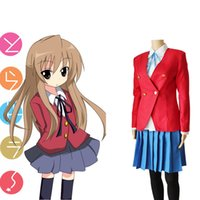 aisaka taiga cosplay - Aisaka Taiga cosplay costumes uniform Japanese anime Toradora clothing Masquerade Mardi Gras Carnival costumes red