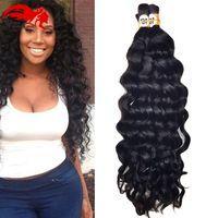 al por mayor brasileña virginal profunda del pelo rizado trenzado-Mink Brazilian Virgin Hair 6 bultos Deep Curly Virgin brazilian Human Braiding Hair Bulk No Trama A Granel Humano Remy Pelo Para Trenzar