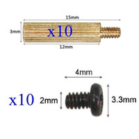 Wholesale 10x Standoffs x12mm and Screws for Board Mount CCTV Cameras