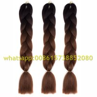 Wholesale one piece Ombre kanekalon braiding hair xpression braiding hair kanekalon jumbo braid hair extension Expression braiding hair