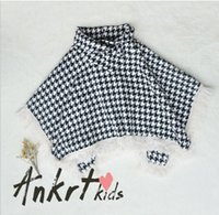 Wholesale 2017 New Fashion Baby Girls Tassel Plaid Cloak Coat Fashion Outwear High Grade Babys Outwear G62