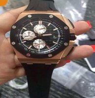 Wholesale 2016 Mens Top Quality Brand MENS Chronograph K Rose Gold Chrono Date Men s Dive stopwatch Professional sport diving Watches