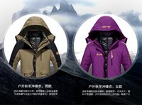 Wholesale Fort triad ski wear men and women lovers big yards two piece mountaineering wear qiu dong tooling warm cotton
