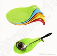 Wholesale Silicone Spoon Insulation Mat Placemat Drink Glass Vogue Coaster Tray Heat Resistant Mat Pad Kitchen Tool OOA1044