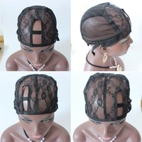 Wholesale Black Middle Left Right Mix Order U Part Wig Cap For Making Weaving Cap Adjustable Strap On the Back wig Making Caps