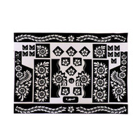 airbrushing supplies - pc Tattoo Templates hands feet henna tattoo stencils for airbrushing professional mehndi new Body Painting Kit supplies