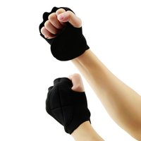 Wholesale 1Pair Limitless Black Sport Weight Lifting Fitness Gloves Hot Selling