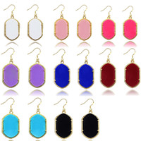 acrylic plates - Gometric Kendra Earrings Scott Style Acrylic Chandelier Dangles for Women Mixed Colors Bulk Price