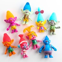 Wholesale 2016 Movie Trolls cm PVC Action Figures Toys For Kids Christmas Gift package Collectibles Dolls Anime Figurines Kids Toys for Boys Girls