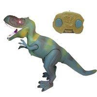Wholesale Tyrannosaurus Rex Remote Control Electronic Reality Design Dinosaur Model RC Toy Kids Gift Two Color For Choose