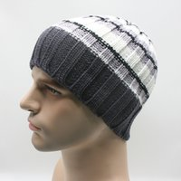 Wholesale The new bar horizontal stripes men s and women s hat Warm turtleneck cap Knitted cap outdoor skiing winter hats