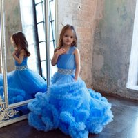 baby party frocks - Cloud little flower girls dresses for weddings Baby Party frocks sexy children images Dress kids prom dresses evening gowns