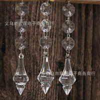Wholesale Transparent Water Drop Acrylic Beads Crystal Bead Wedding Props Decorative Pendant Curtain Decoration Ornaments hm