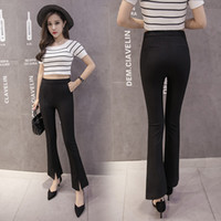 Wholesale Best Quality Latest Female Clothing Fashion Bellbottoms Plus Size Women Long Trousers Office Ladies Elegant Pants