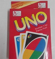 Wholesale Family Funny Entertainment Board Game UNO Fun Poker Playing Cards Puzzle Games Standard uno card DHL free