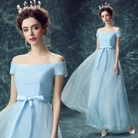 Wholesale Sweety V Neck Party Dresses A Line Lace up Sweep Train Chiffon Evening Dresses Lace Party Dresses