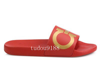 Wholesale new arrival mens fashion causal rubber sandals Gancini slide sandals summer outdoor beach slippers