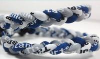 baseball necklace blue grey - Promotion Baseball Sports Titanium Rope Braided Blue White Grey GE Necklace RT075
