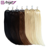 Wholesale GH Angel strands set inch Micro Beads Loop Hair Extensions remy Human Hair Extensions g g g set