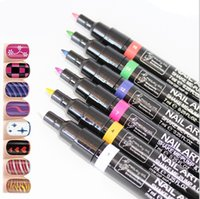 acrylic painting sky - 16 Candy Color For Choose Nail Art Pen Painting Polish Dot Drawing UV Gel Design Manicure Acrylic Paint Beauty Tools Decorations Free
