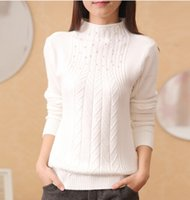 basic beading - women s turtleneck sweater female thickening pullover basic shirt long sleeve sweater with bead