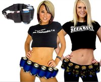 beer pack sizes - Cool Party Pack Beer Drinking Belt Outdoor Sport Camping Party Drinks Belt Adjustable Size Multi function Canvas Belts Black Blue Camoufla