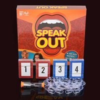 big gift cards - Hotest Speak Out Game KTV party game cards for party Christmas gift newest best selling toy A106