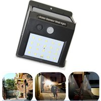 Wholesale 2017 Solar Sensor Wall Light LED Solar Power PIR Motion Sensor Wall Light Outdoor Waterproof Garden Lamp LEG_20G