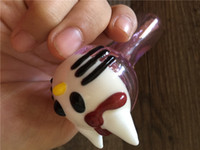 big kitty cats - pink glass pipe hot sale Big cat hello kitty smoking glass pipes lovely cat head pipes spoon pipe