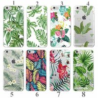 apple tree leaves - Palm Tree Leaves Tropic Summer Floral Fashion Soft TPU Printed Phone Case Cover for iPhone S Plus SE c