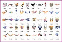 Wholesale New arrival Temporary Airbrush Tattoo Stencil Template Booklet of the Abstract designs