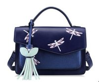 air packets - HOT Freeshipping new portable shoulder bag small fresh air fashion embroidered Messenger Bag College wind embroidery dragonfly packet