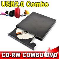 Wholesale USB Portable External Slim Optical Drive COMBO DVD ROM CD ROM Burner Record SATA chip CD DVD Combo Writer