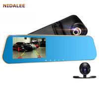automobile parking sensors - car dvr Hot Mirror Car Camera DVR Dual Lens FHD P Auto Video Rearview Automobile Registrator Parking Monitor Auto Black box Logger