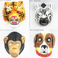 adult makeup games - New EVA small animal cute funny animal mask Makeup show ball game props children
