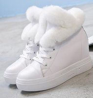 bare snow - 2016 winter new women s boots leather lazy rabbit hair increased in the thick end of women s shoes plus velvet bare boots fashion
