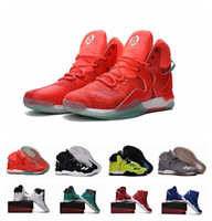 ads football - Best Quality AD Basketball Shoes Men Boots VII White Christmas Sneakers Derrick Rose Sports Sneaker