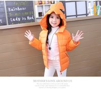 Wholesale Cute Girls Downcoat Solid Warm Hooded Coat Children Outwear Winter Coat Baby Clothes Kids Clothing Girl Waistcoat