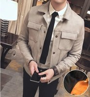 Wholesale The new male jacket lapel cultivate one s morality air force pilot jacket male youth handsome contracted wind of England